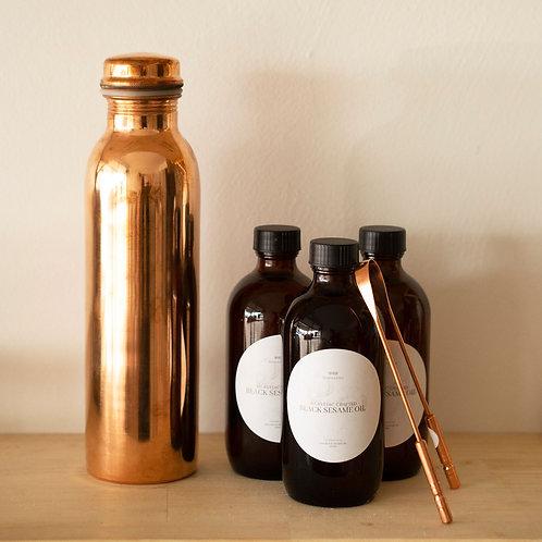 Copper Water Bottle 600ml