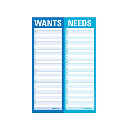 Notepad Wants/Needs