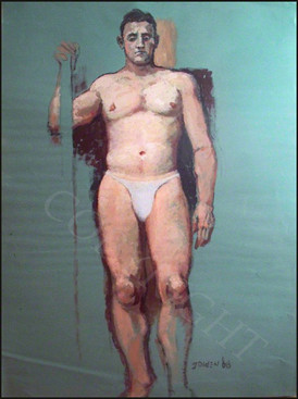 Man with Pole - 1968