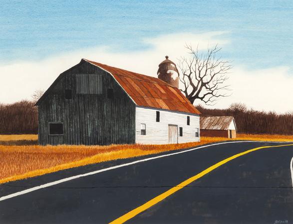 Sunlight on the Barn