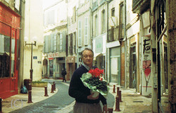 Rolland in downtown Agen, France 1990's