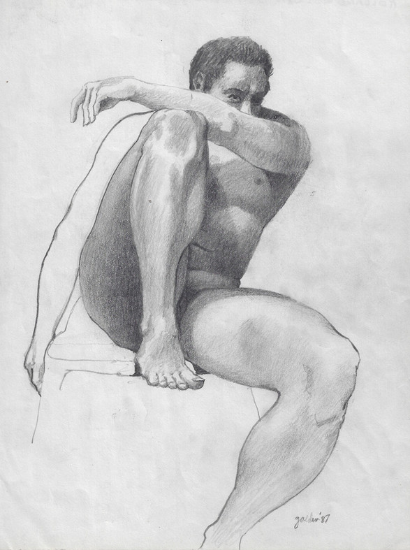 Male Seated - 1987