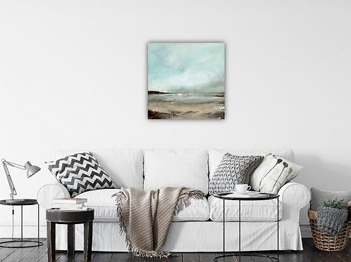 "Original Painting of ""Snow Clouds, Pembrokeshire"""