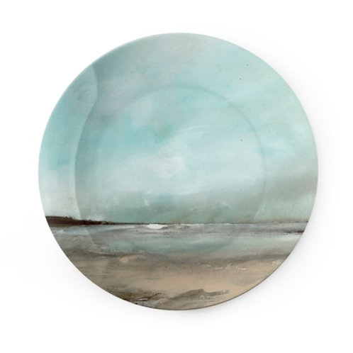 "China Plate - ""Snow Clouds, Pembrokeshire"""