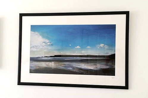 "Framed Limited Edition Print of ""Monkstone from Amroth"""
