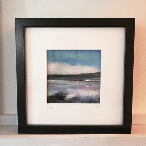 Framed Limited Edition Print - 'Low Tide, Saundersfoot'