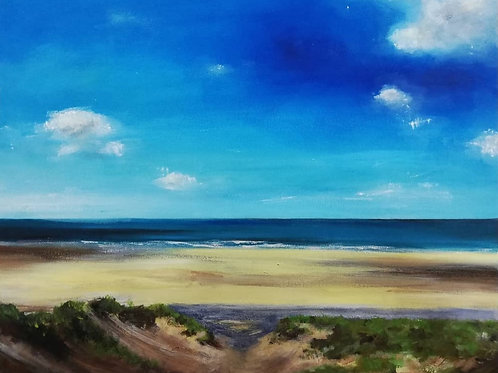 """Giclee Print of """"Through the Dunes, Freshwater West"""""""