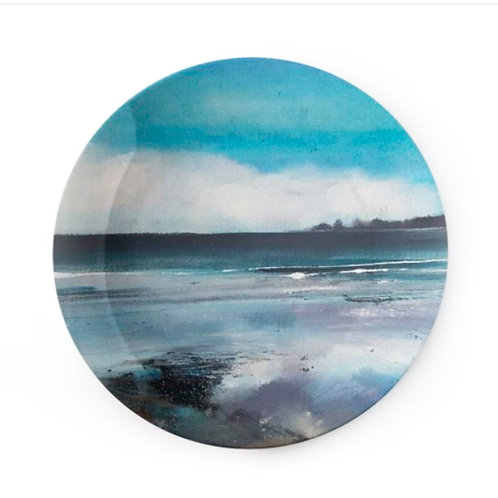 "China Plate - ""Low Tide, Saundersfoot"""