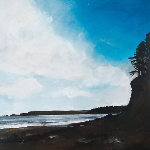 """Canvas Print of """"Dad's Cliff, Amroth"""""""