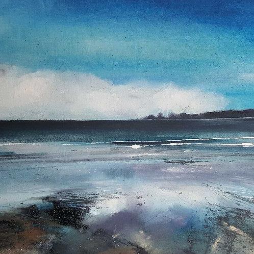 "Canvas Print of ""Low Tide, Saundersfoot"""