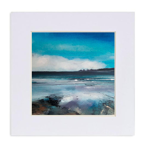 "Giclee Print of ""Low Tide, Saundersfoot"""