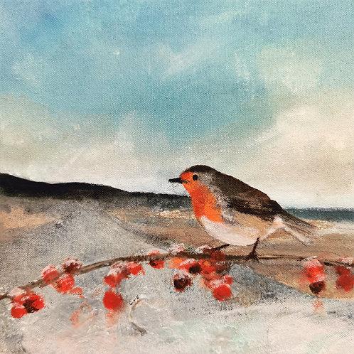 Original painting 'Amroth Robin'