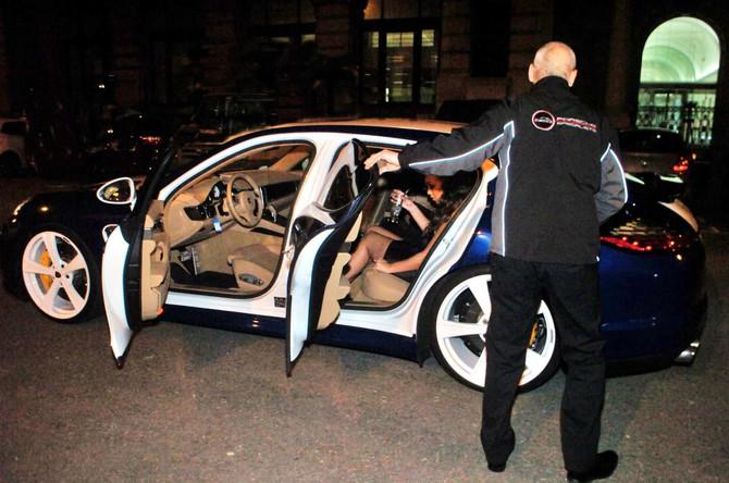 Rebecca Ferguson in OCD Porsche