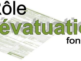 Lien pour consultation du nouveau rôle d'évaluation 2017-2018-2019