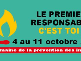 La Semaine de la prévention des incendies : 4 au 10 octobre 2020