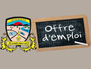 Offre d'emploi : Directeur général et secrétaire-trésorier
