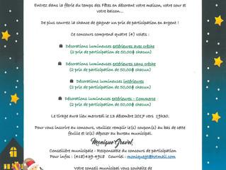 Concours de participation pour Décorations de Noël