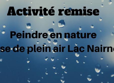 Activité remise / Peindre en nature