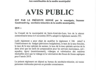 Avis Public