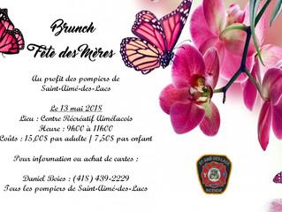 Brunch - Fête des Mères au profit des pompiers de Saint-Aimé-des-Lacs