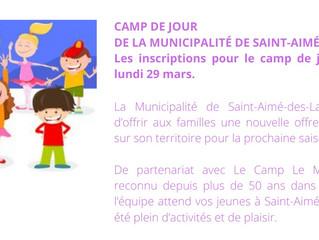 Camp de jour - Été 2021