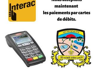 Nouveau: Paiement par carte de débit.
