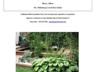 Atelier d'échanges de plantes