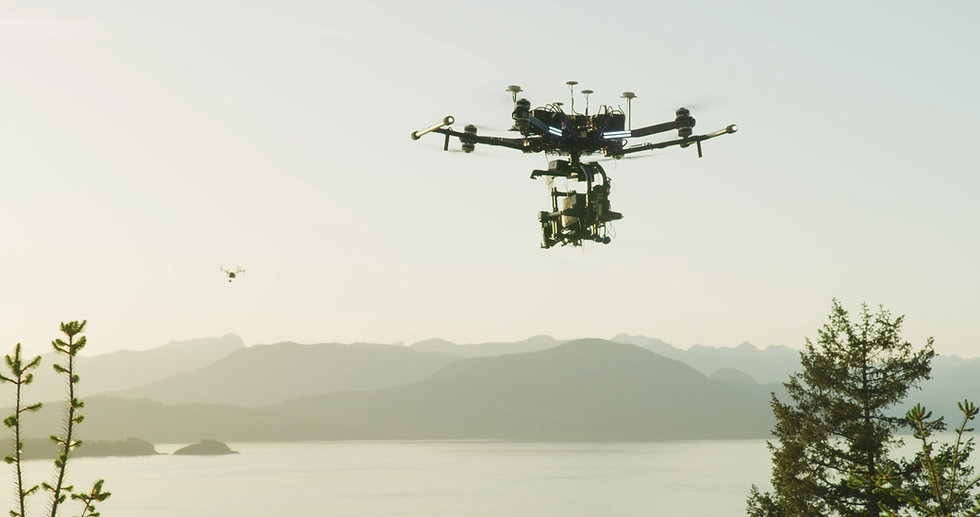 Vancouver Drone - Rapture Heavy Lift drone flying in Vancouver