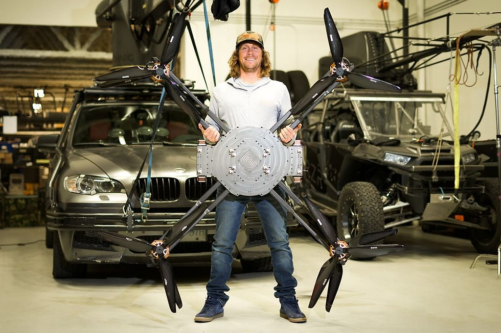 Rapture XL heavy lift drone, made to carry heavy camera packages on the Movi XL gimbal.