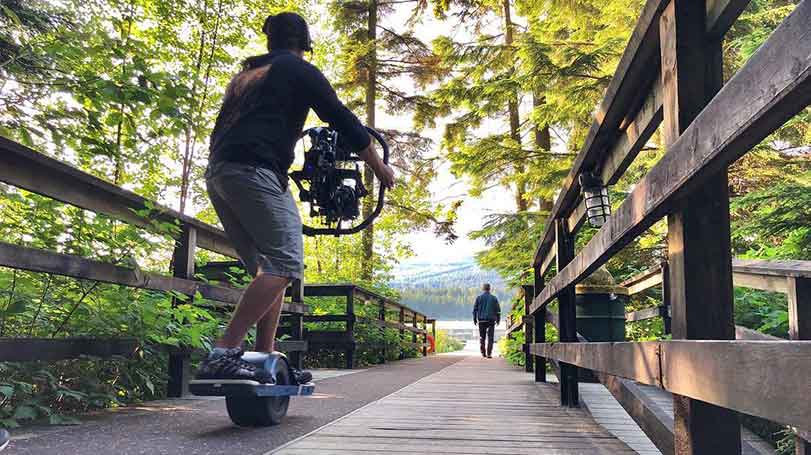 Onewheel rentals for smooth digital dolly filming