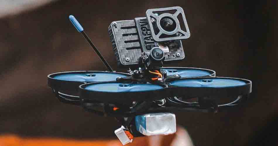 Micro FPV drones with GoPro cameras for fast and tight filming.