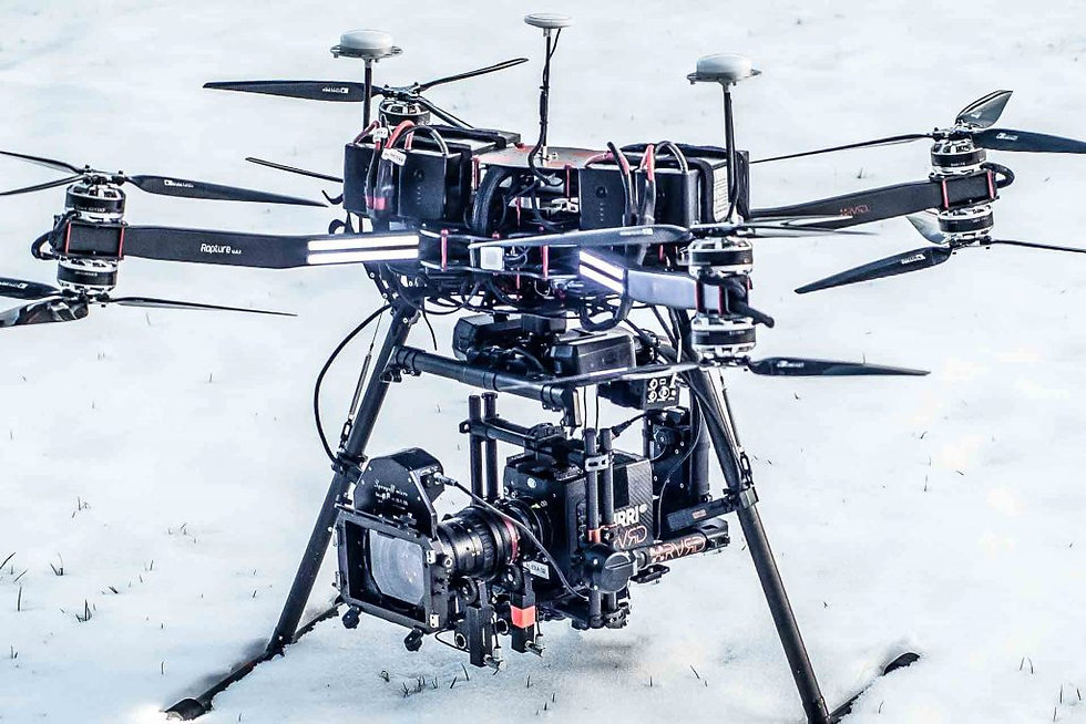 The Rapture X8 drone is RVRD's original heavylift drone that is capable of lifting large camera packages with ease.
