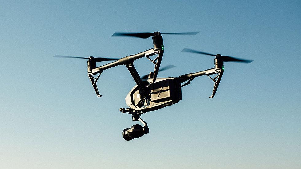 DJI Inspire 2 drone flying