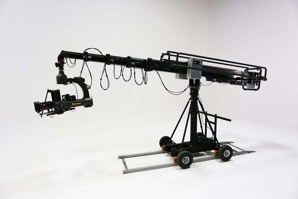 Filmotechnic telescopic camera crane with up to 27ft reach