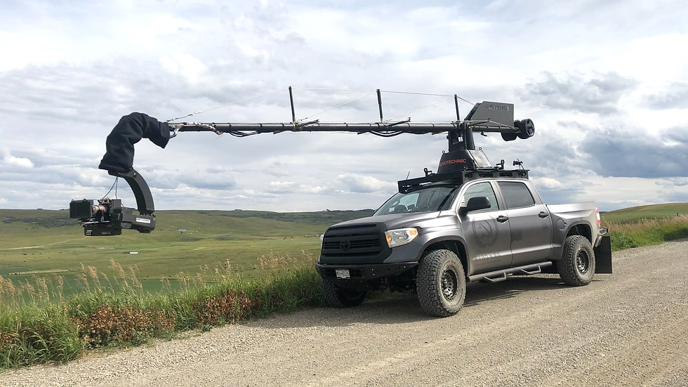 Toyota Tundra with Filmotechnic Russian Arm for chase filming