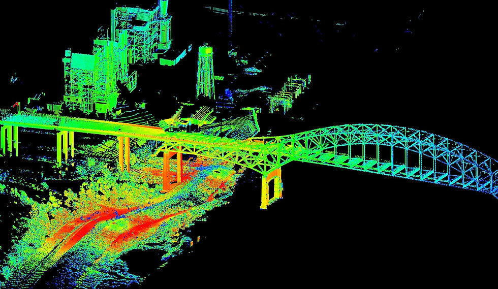 Lidar using RTK systems to map terrain safely and simply