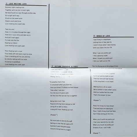 Lyric Sheet 2.