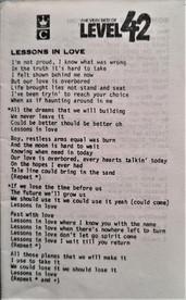 Lyric Sheet.