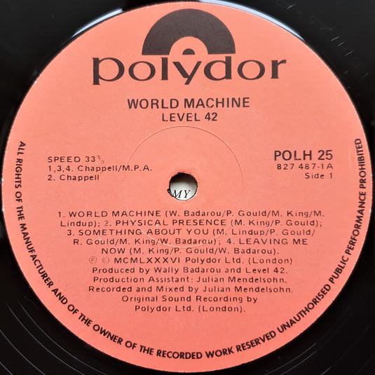 Side 1 Label.
