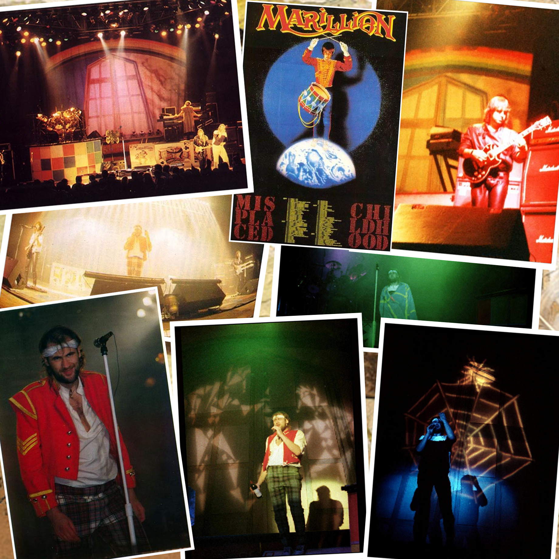 Patchwork de Photos Live 1985