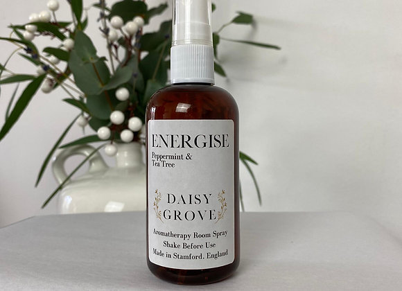 Energise Aromatherapy Room Spray - Peppermint & Tea Tree
