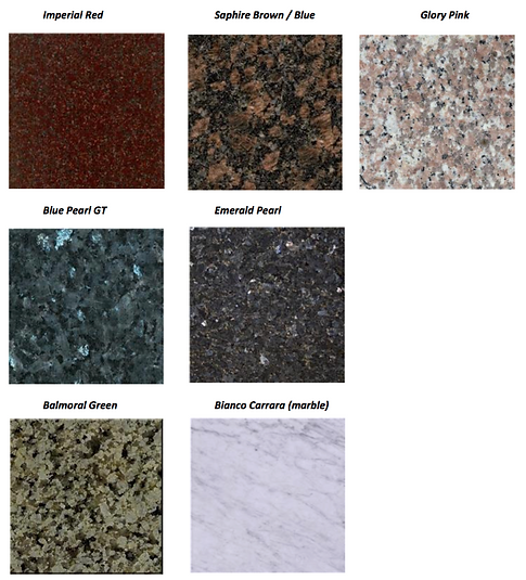 Granite Headstone Colours