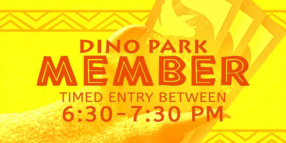 Dinos in the Dark! 10/15 Member Admission Slot A