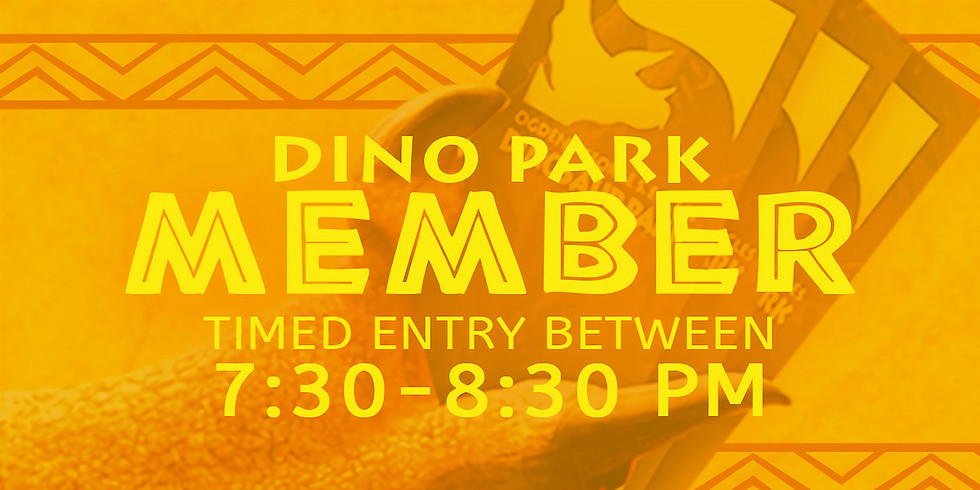 Dinos in the Dark! 10/15 Member Admission Slot B
