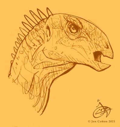 Dryosaurus face 01 yellow web.jpg