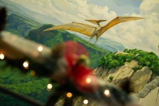 Christmas Pteranodon Mural
