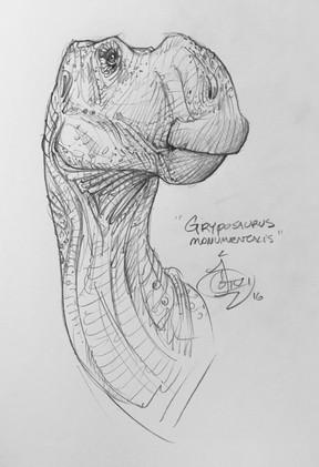 Gryposaurus by Jen Cotton