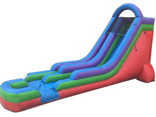 18' Rainbow Inflatable Water Slide