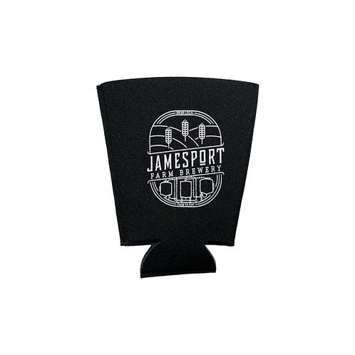 JFB Logo Black Pint Glass Coozie