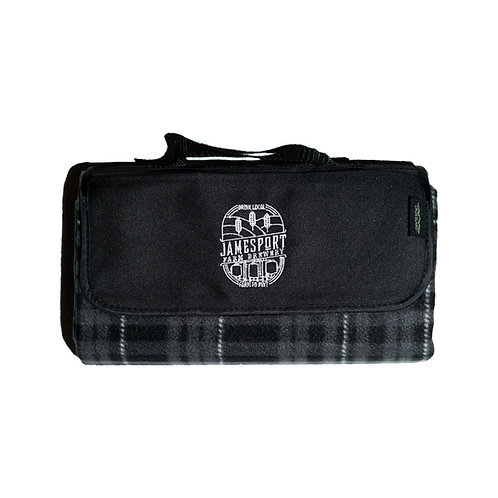JFB Logo Black Plaid Picnic Blanket
